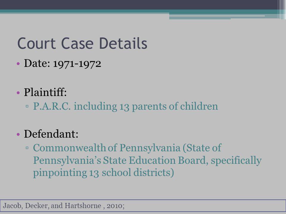 Court Case Details Basis: ▫Protection Clause ▫Procedural Due Process Plaintiff s Attorney ▫Thomas K.