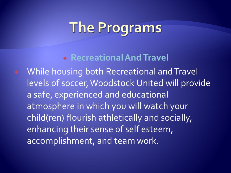  Sponsorship information can be found on the woodstockunited.org website.