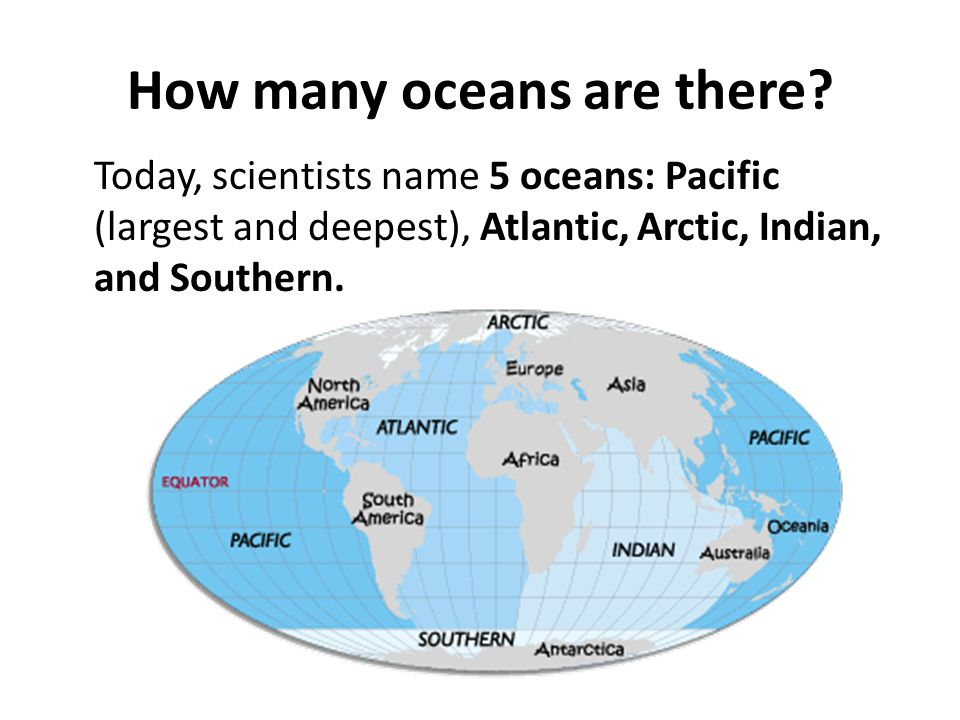 What are characteristics of oceans.