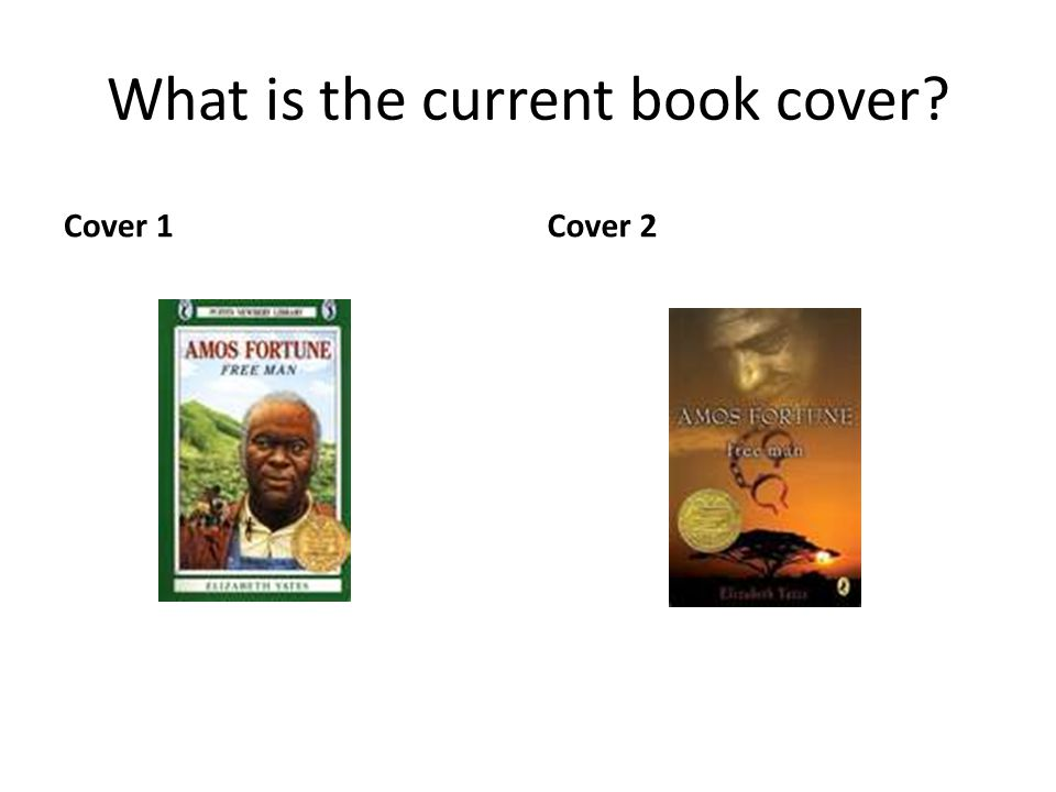 What is the current book cover? Cover 1Cover 2