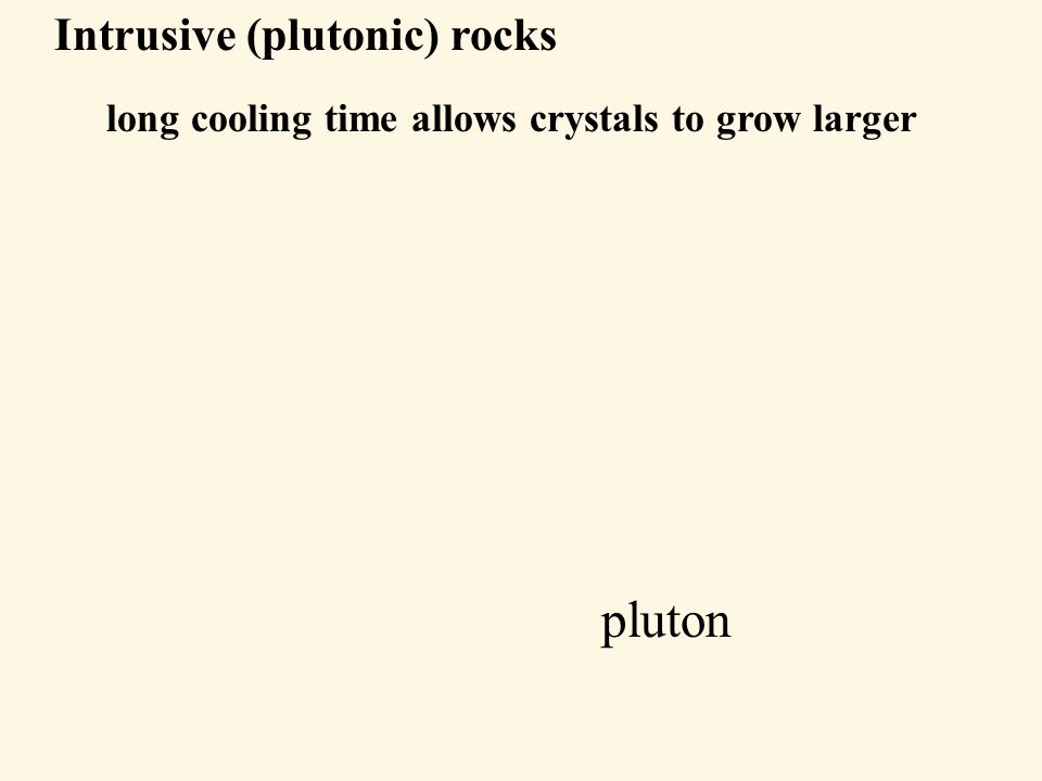 Pluton: large intrusive igneous rock body can take a variety of shape and sizes tabularmassive