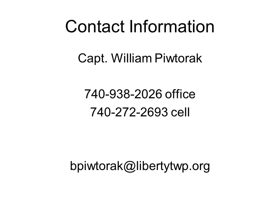Contact Information Capt.
