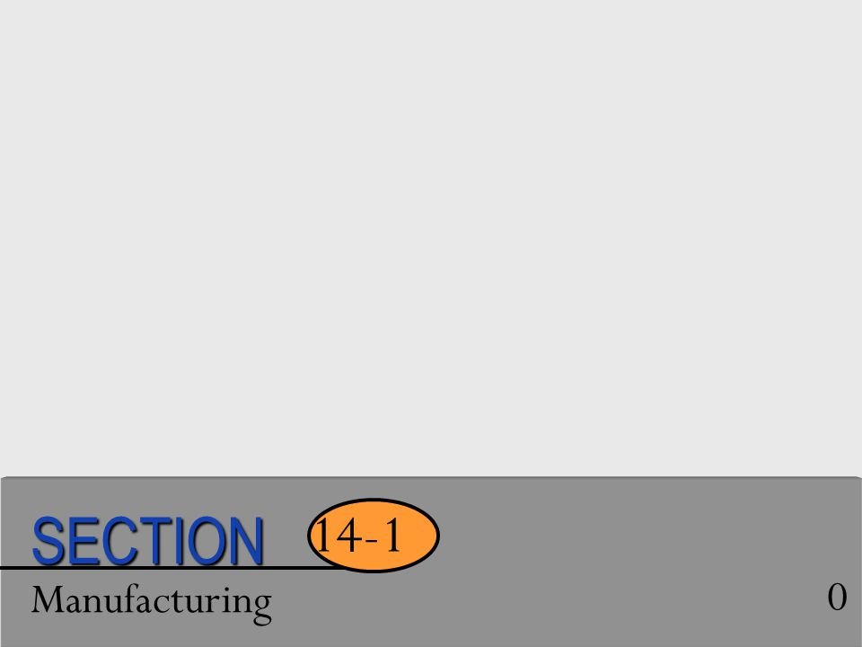 Manufacturing 0 14-1 SECTION