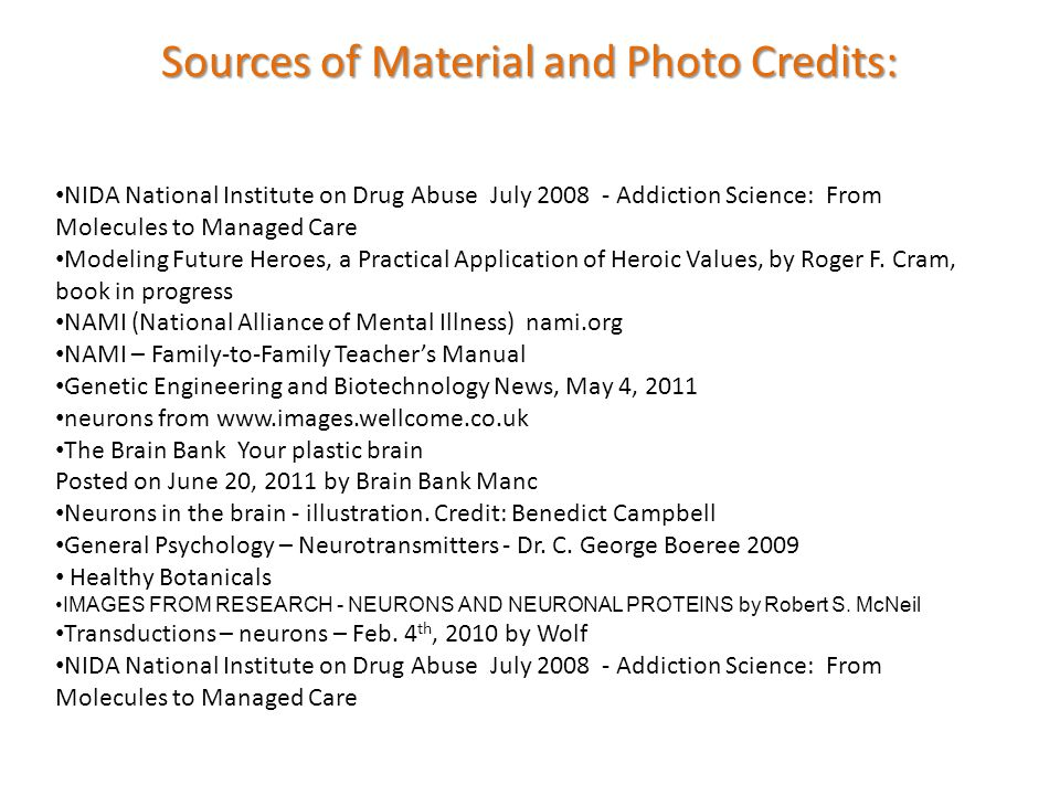 NIDA National Institute on Drug Abuse July 2008 - Addiction Science: From Molecules to Managed Care Modeling Future Heroes, a Practical Application of