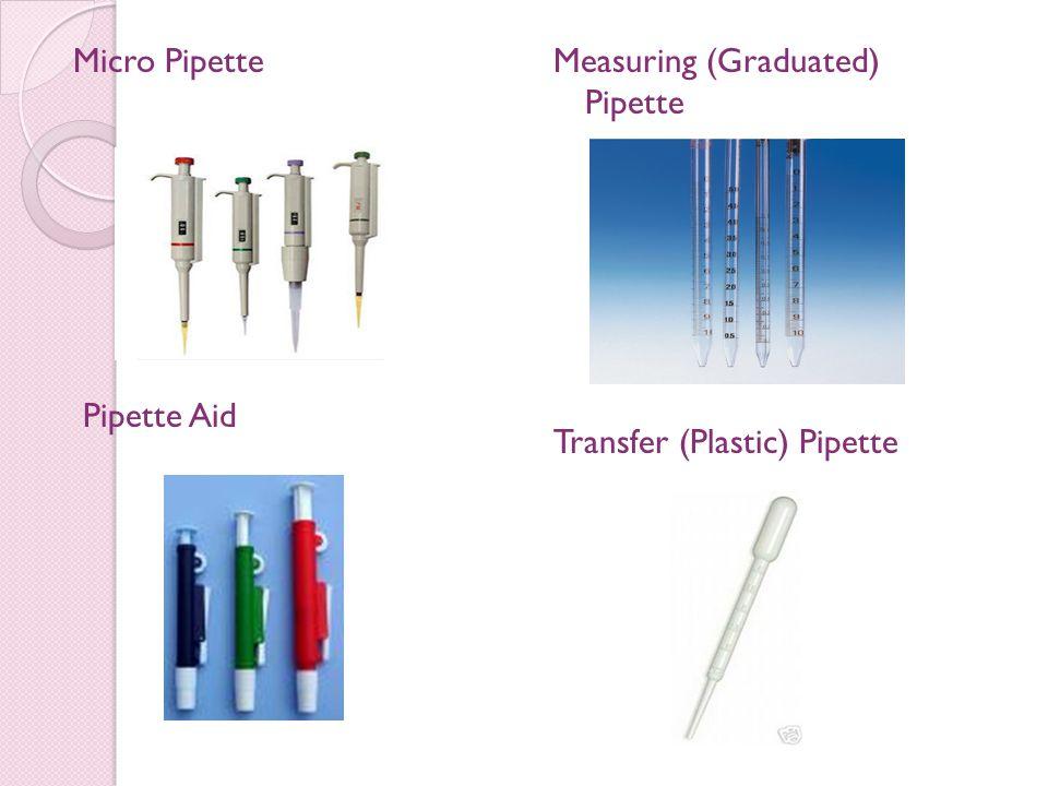 Micro Pipette Pipette Aid Measuring (Graduated) Pipette Transfer (Plastic) Pipette