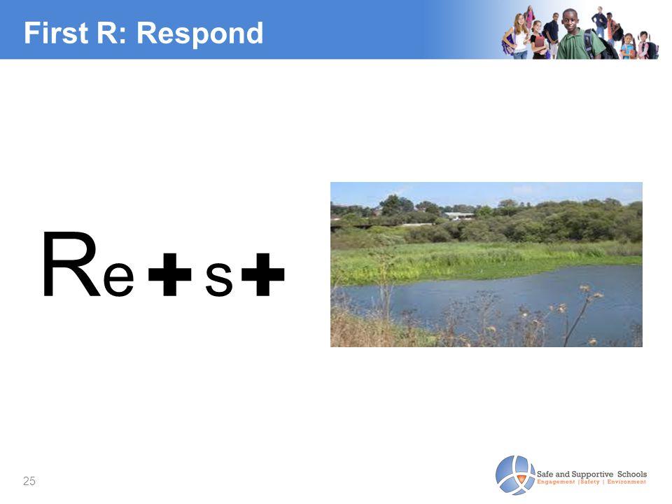 25 First R: Respond R e ✚ s ✚