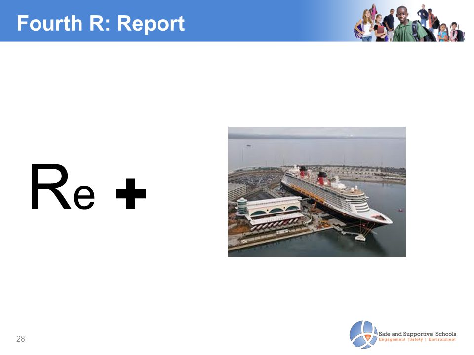 28 Fourth R: Report Re ✚Re ✚