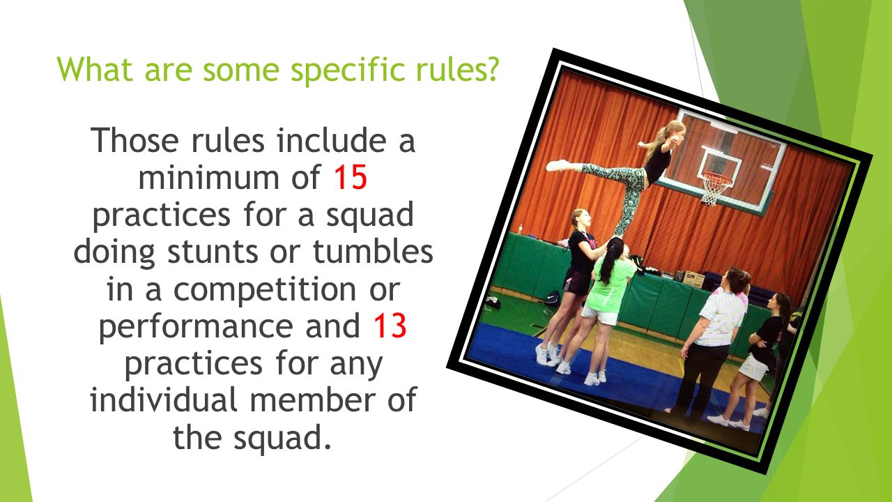 What rules will cheerleaders follow.