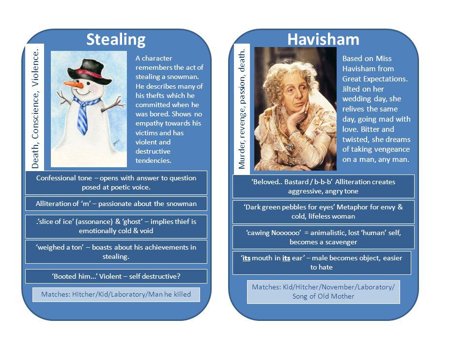 Havisham Based on Miss Havisham from Great Expectations.