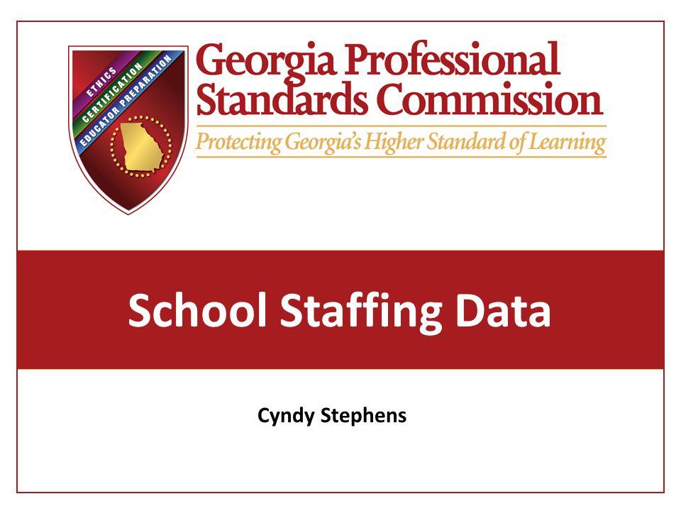 School Staffing Data Cyndy Stephens