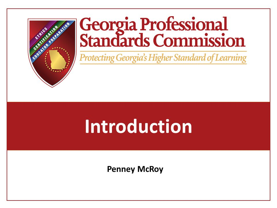 Introduction Penney McRoy
