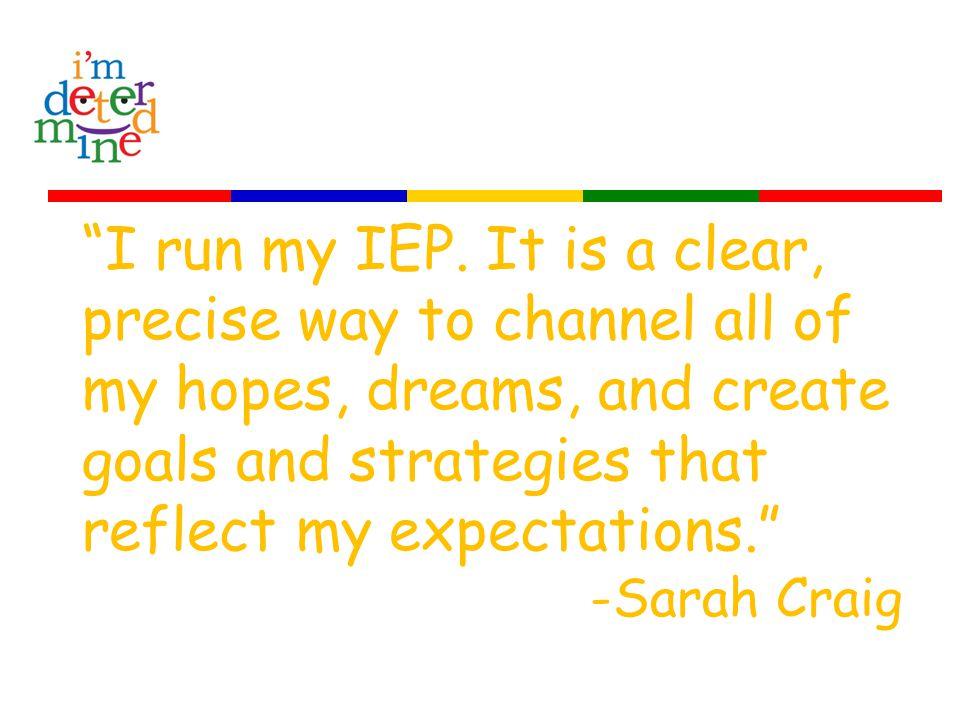 I run my IEP.