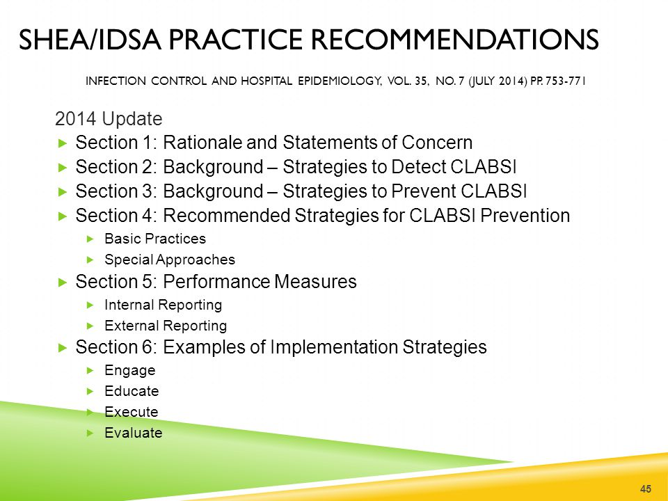 SHEA/IDSA PRACTICE RECOMMENDATIONS INFECTION CONTROL AND HOSPITAL EPIDEMIOLOGY, VOL. 35, NO. 7 (JULY 2014) PP. 753-771 2014 Update  Section 1: Ration