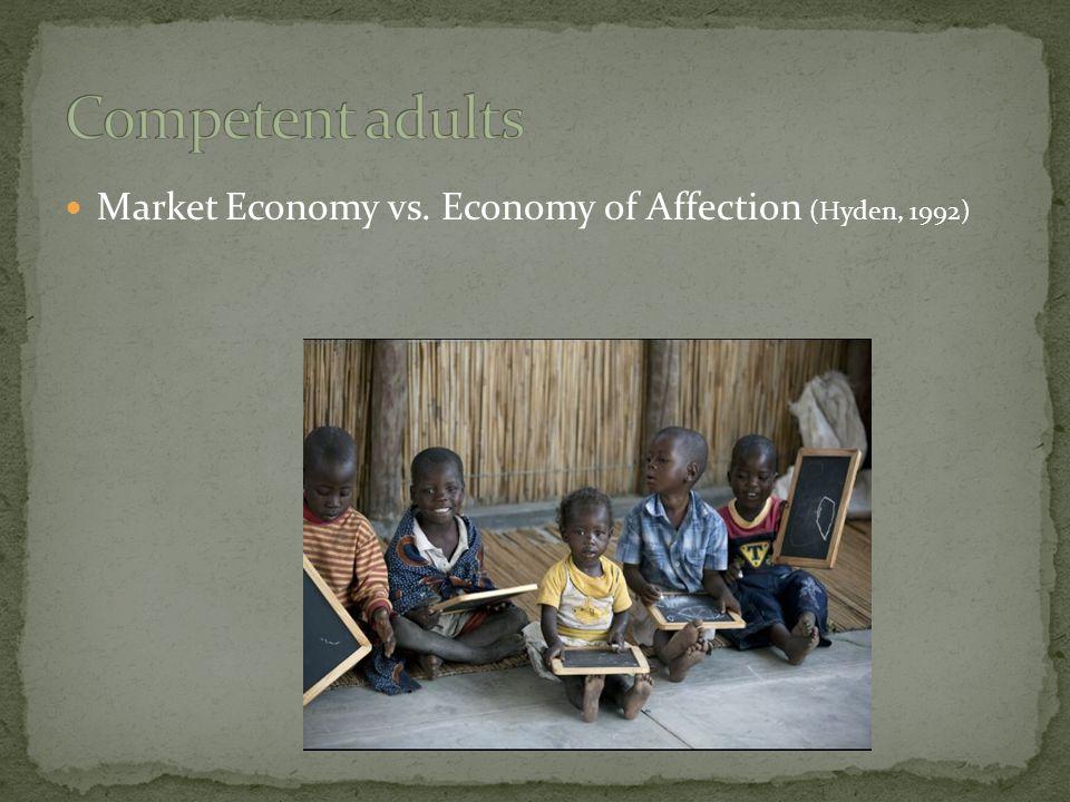 Market Economy vs. Economy of Affection (Hyden, 1992)