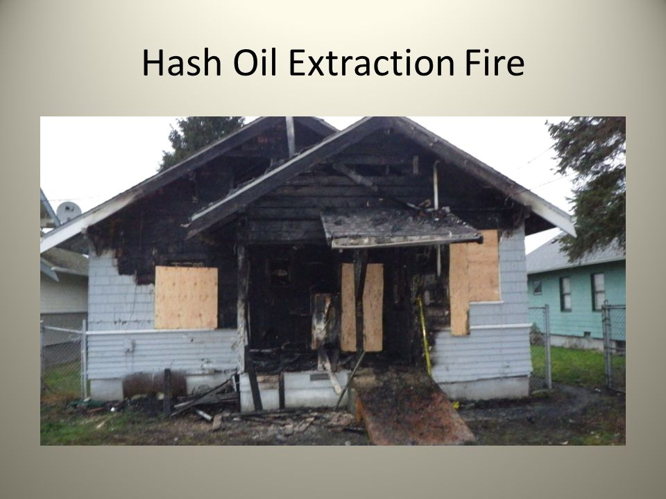 Hash Oil Extraction Fire