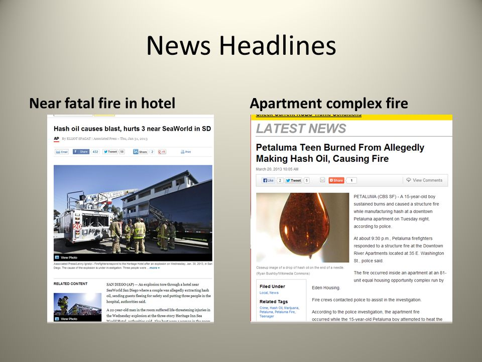 News Headlines Near fatal fire in hotelApartment complex fire
