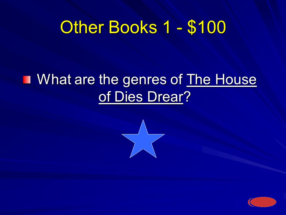 Other Books 1- $100 What is a combination of Historical Fiction and realistic fiction and a hint of fantasy.