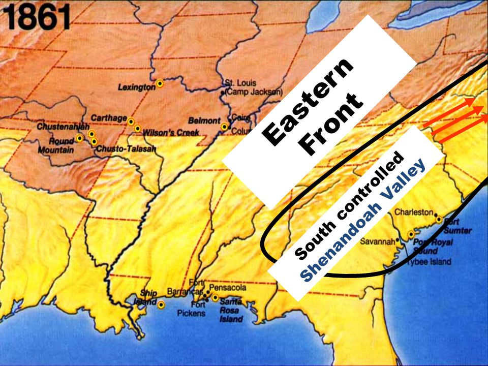 Eastern Front South controlled Shenandoah Valley