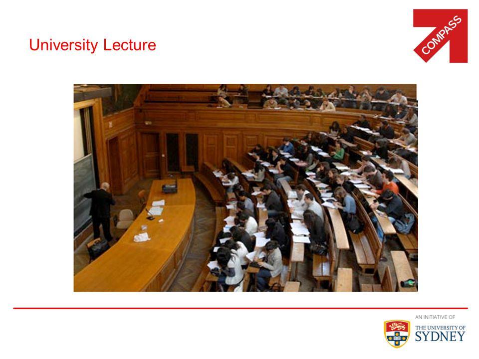 University Lecture 8