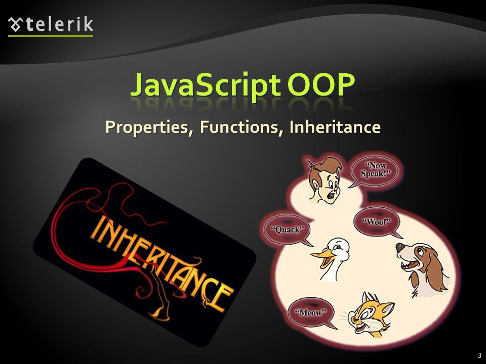 Properties, Functions, Inheritance 3