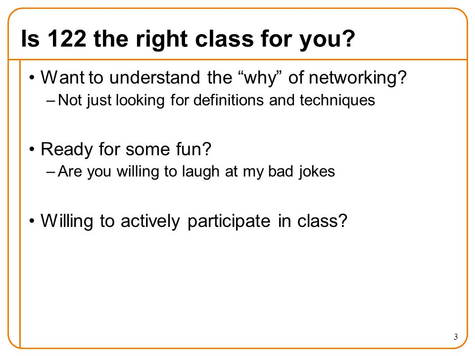 Is 122 the right class for you. Want to understand the why of networking.