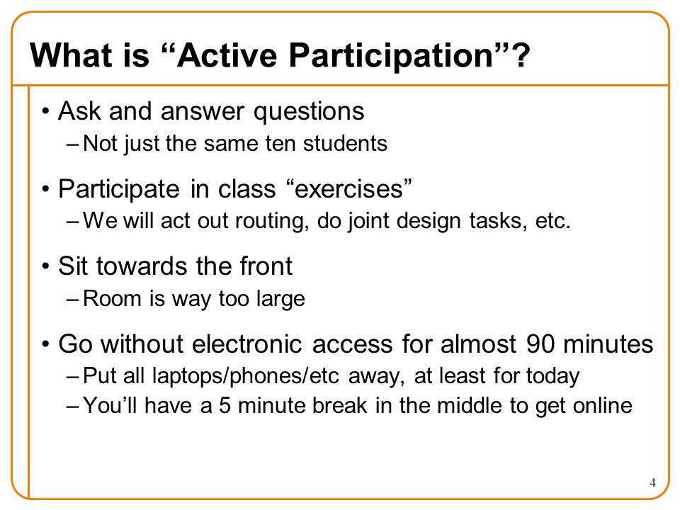 What is Active Participation .