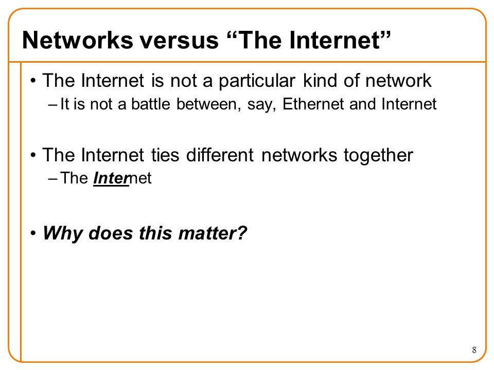 3: Why an exciting time in networking.