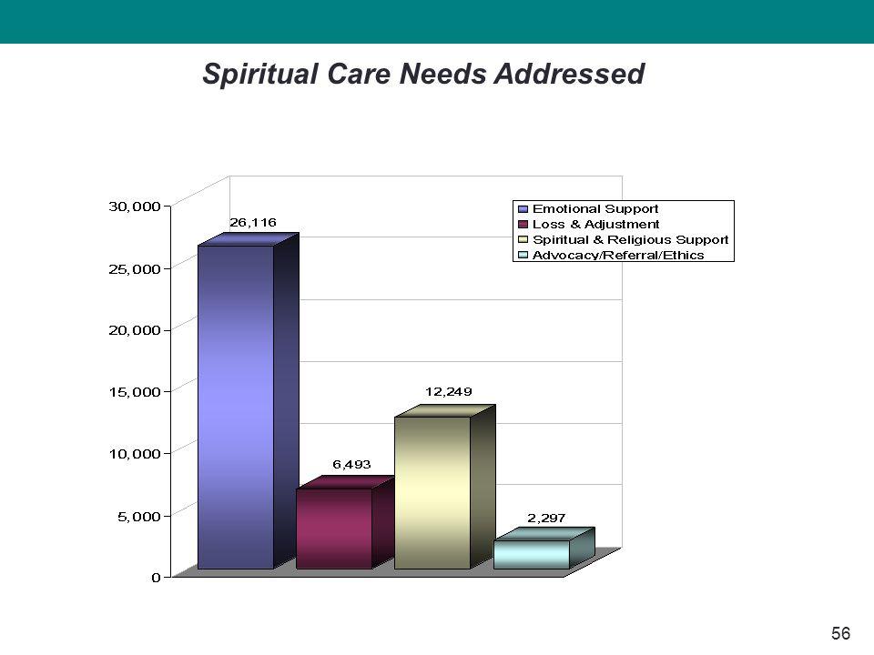 56 Spiritual Care Needs Addressed