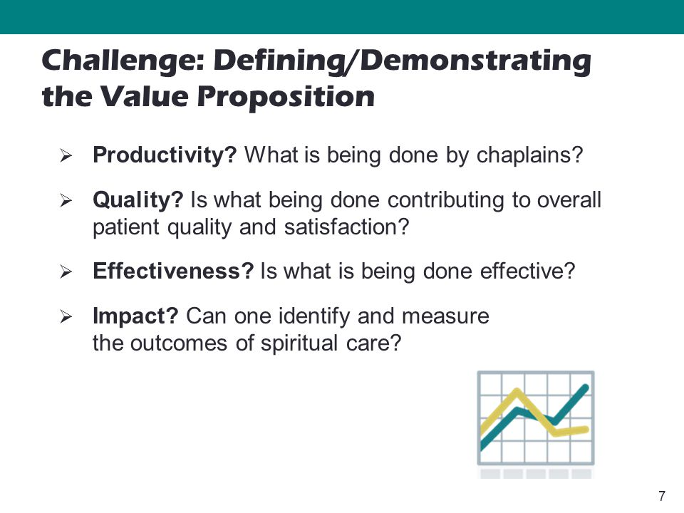 7  Productivity. What is being done by chaplains.