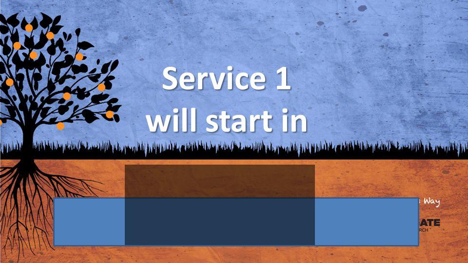 Service 1 will start in