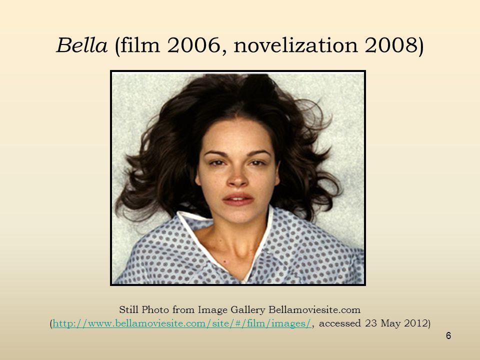 Bella (film 2006, novelization 2008) Still Photo from Image Gallery Bellamoviesite.com (http://www.bellamoviesite.com/site/#/film/images/, accessed 23 May 2012)http://www.bellamoviesite.com/site/#/film/images/ 6