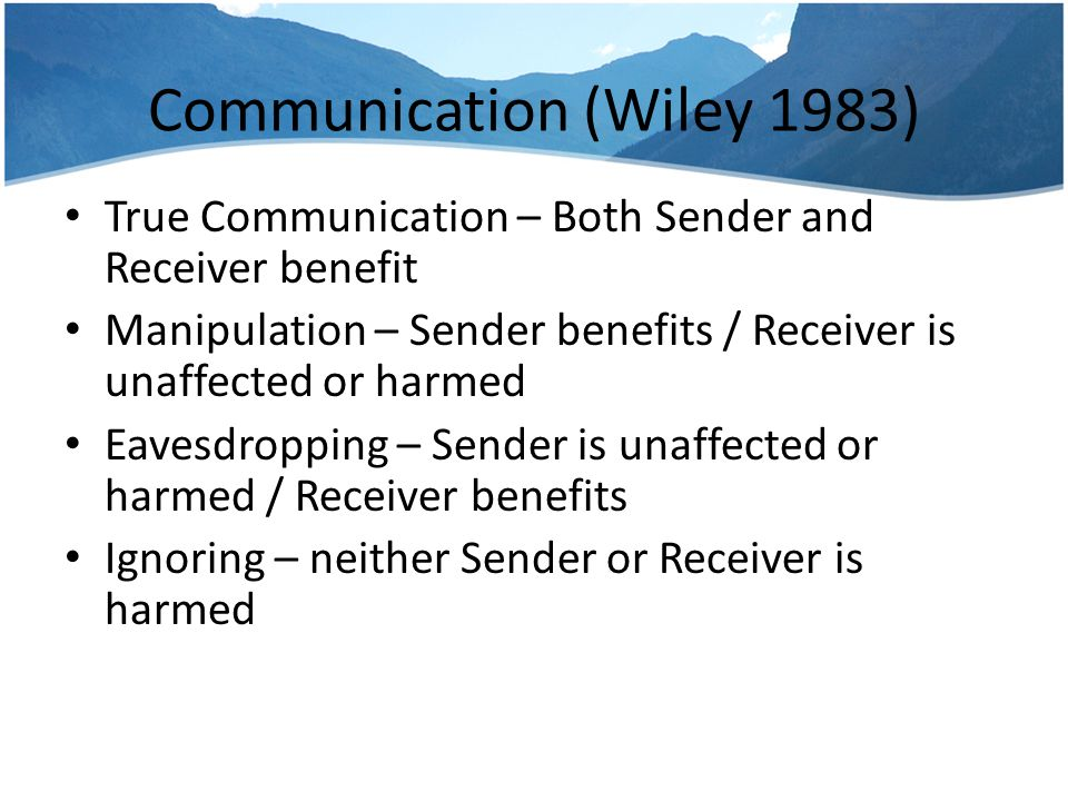Communication (Wiley 1983)