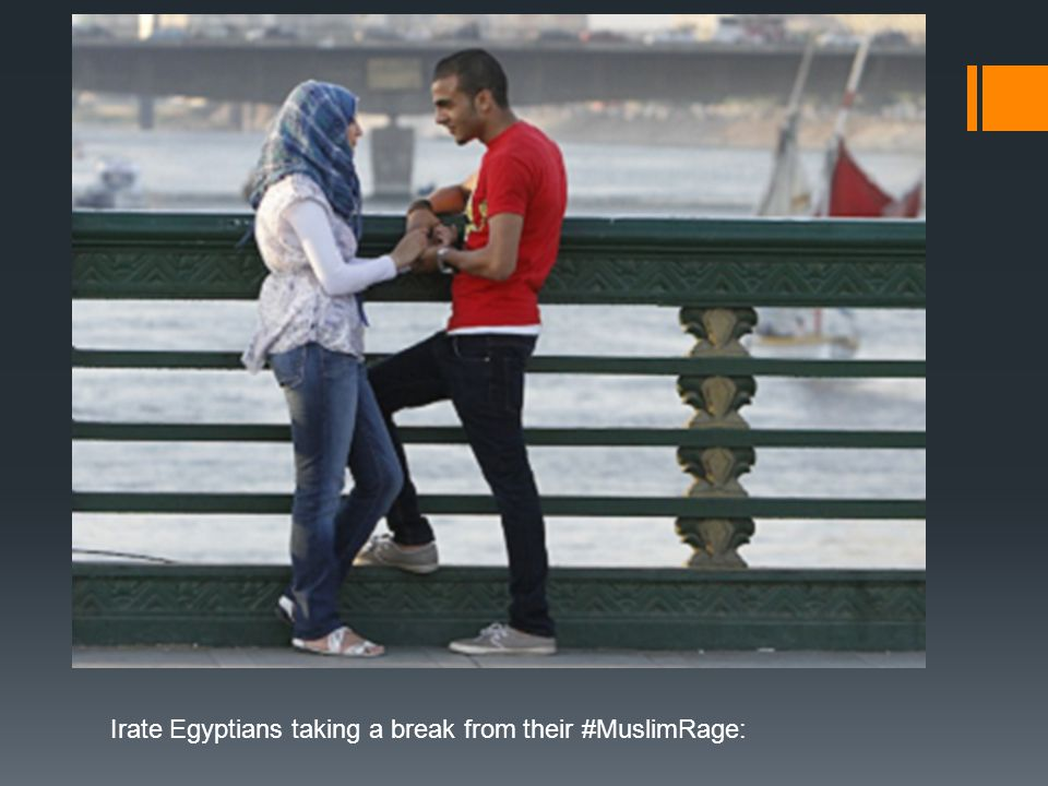 Irate Egyptians taking a break from their #MuslimRage: