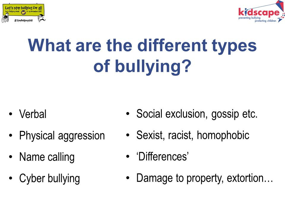 How can bullying effect people.