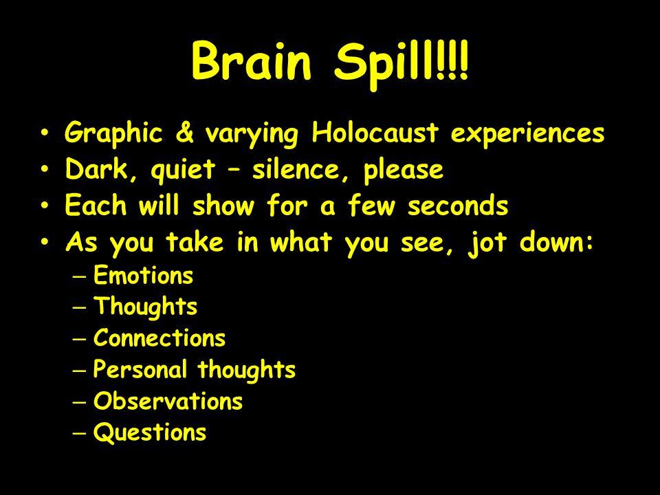 Brain Spill!!.