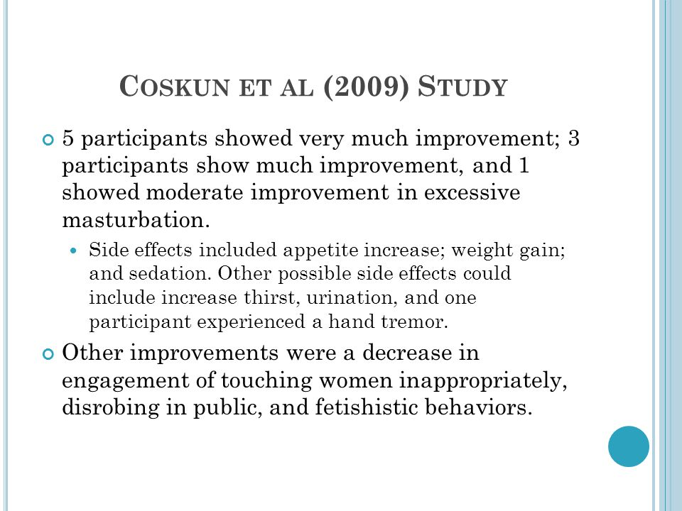 C OSKUN ET AL (2009) S TUDY 5 participants showed very much improvement; 3 participants show much improvement, and 1 showed moderate improvement in ex