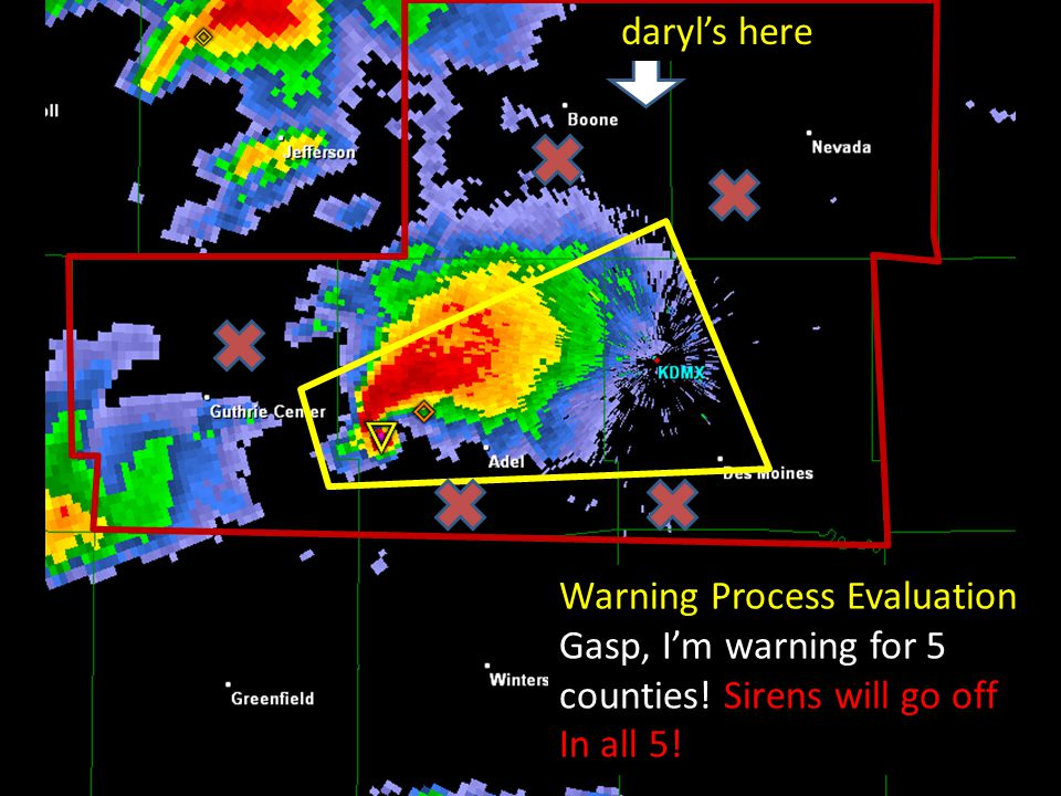 Warning Process Evaluation Gasp, I'm warning for 5 counties.