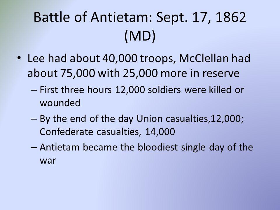 Battle of Antietam: Sept.