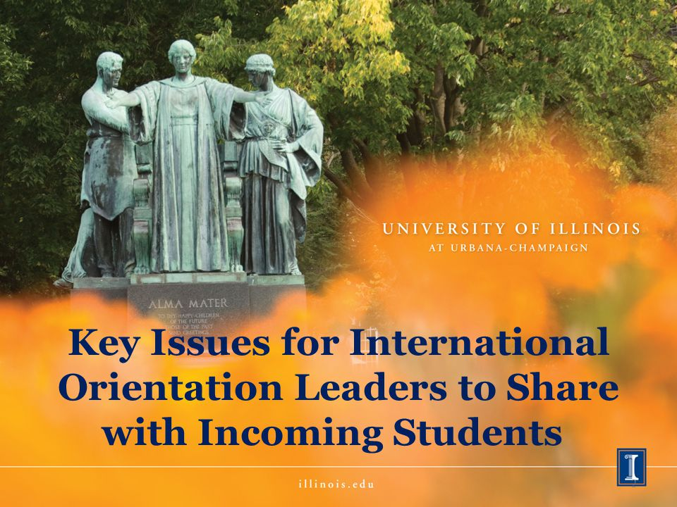 Key Issues for International Orientation Leaders to Share with Incoming Students 2