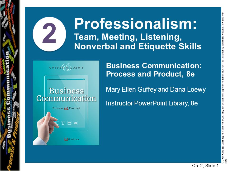 Ch.2, Slide 52 © 2015 Cengage Learning. All Rights Reserved.