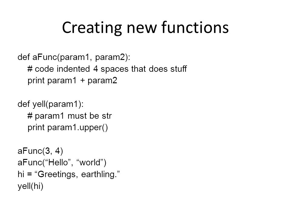 String functions Q: Why create functions that work with strings.