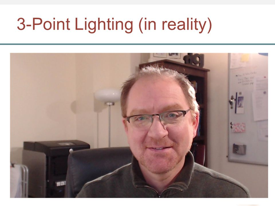 3-Point Lighting (in reality)