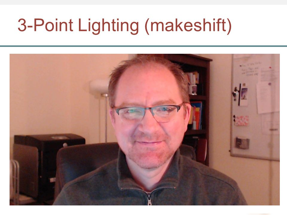 3-Point Lighting (makeshift)