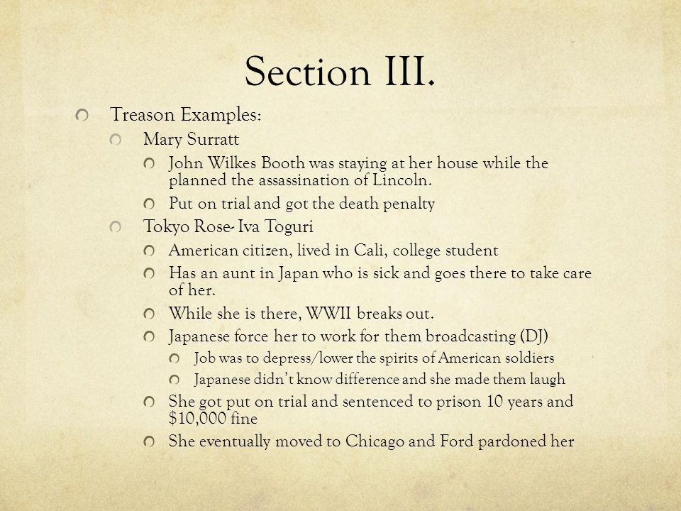 Section III.