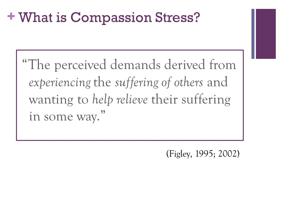 + What is Compassion Stress.
