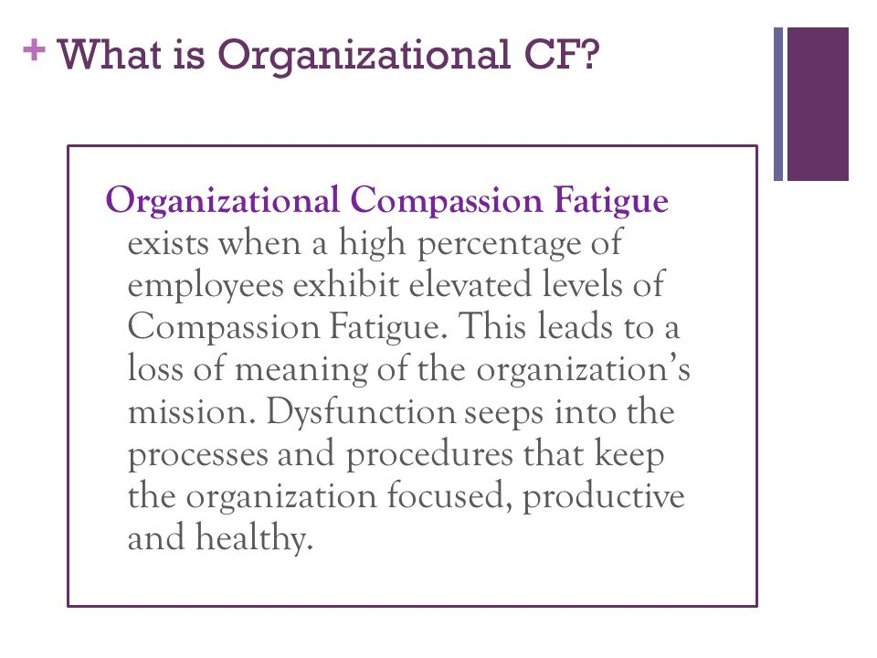+ What is Organizational CF.