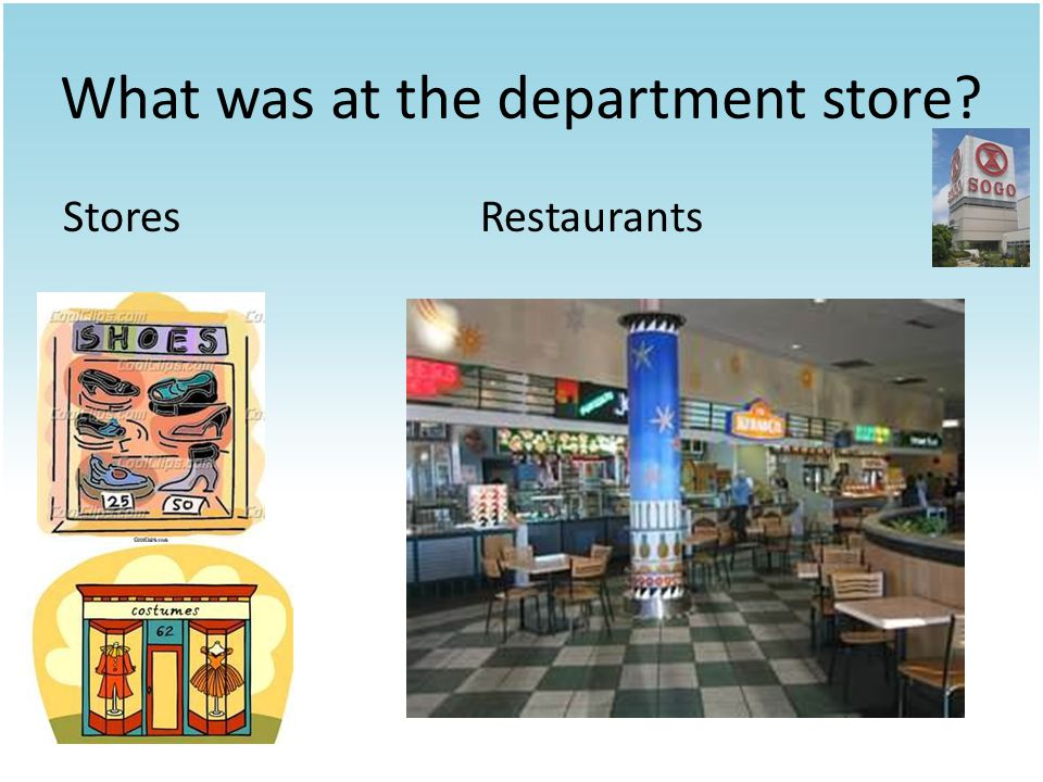 What was at the department store StoresRestaurants