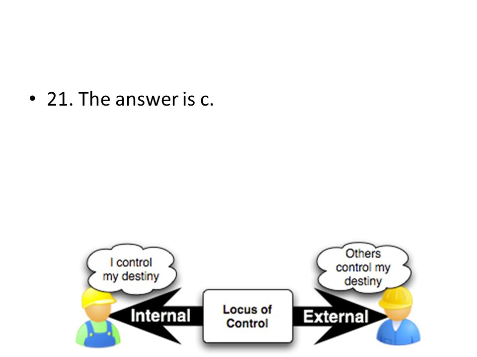 21. The answer is c.