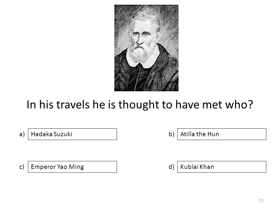 In his travels he is thought to have met who.