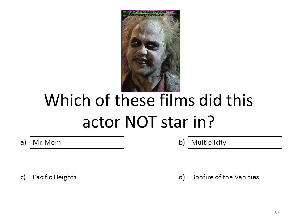 Which of these films did this actor NOT star in.